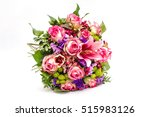 bouquet of pink roses isolated... | Shutterstock . vector #515983126