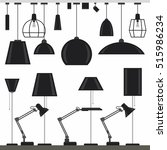 set of lamps icons in flat style | Shutterstock .eps vector #515986234