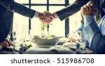 business people shaking hands... | Shutterstock . vector #515986708
