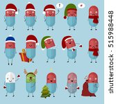 merry christmas pills. happy... | Shutterstock .eps vector #515988448