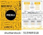 cafe menu food placemat... | Shutterstock .eps vector #515989318