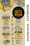 coffee menu placemat food... | Shutterstock .eps vector #515989348
