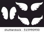 wings collection. vector... | Shutterstock .eps vector #515990950