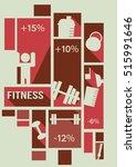 fitness info graphic   vector... | Shutterstock .eps vector #515991646