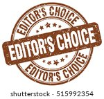 editor's choice stamp. brown... | Shutterstock .eps vector #515992354