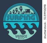 surfing typography  t shirt... | Shutterstock .eps vector #515993098