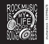 rock music headphones... | Shutterstock .eps vector #515998678