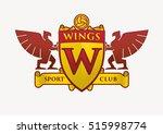 wings club logo template.... | Shutterstock .eps vector #515998774