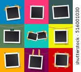 set of square vector photo... | Shutterstock .eps vector #516001030