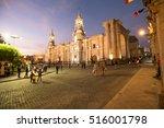 arequipa peru november 9  main... | Shutterstock . vector #516001798