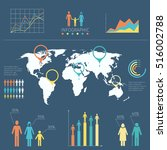 vector infographic with people... | Shutterstock .eps vector #516002788
