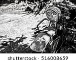 Ancient Military Motorcycle In...