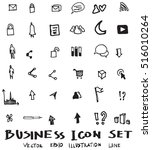 business doodles sketch vector... | Shutterstock .eps vector #516010264