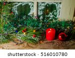 christmas background wooden | Shutterstock . vector #516010780