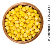 Sweet Corn Kernels In Wooden...