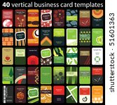 40 colorful vertical business... | Shutterstock .eps vector #51601363