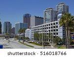 skyline of hotels  skyscrapers... | Shutterstock . vector #516018766