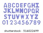 letters and numerals english... | Shutterstock . vector #516022699