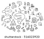 hand drawn doodle of elements... | Shutterstock .eps vector #516023920