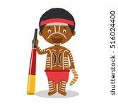 character from australia ... | Shutterstock .eps vector #516024400