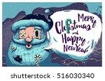 hipster christmas card or...   Shutterstock .eps vector #516030340