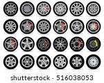 car wheels set | Shutterstock .eps vector #516038053