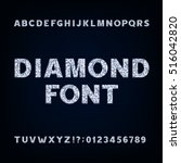 diamond alphabet font.... | Shutterstock .eps vector #516042820
