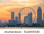 view of central singapore with... | Shutterstock . vector #516045430