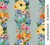 seamless pattern with colorful...   Shutterstock . vector #516046474