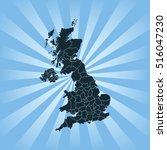 map of united kingdom   Shutterstock .eps vector #516047230