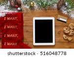 christmas online shopping... | Shutterstock . vector #516048778