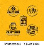 handmade craft beer rough... | Shutterstock .eps vector #516051508