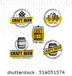 handmade craft beer rough... | Shutterstock .eps vector #516051574