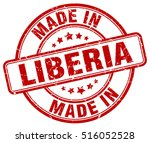 made in liberia. stamp. | Shutterstock .eps vector #516052528