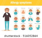 allergy symptoms. cough  itchy  ... | Shutterstock .eps vector #516052864