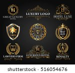 great luxury set  royal and... | Shutterstock .eps vector #516054676