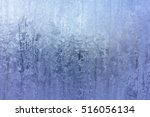 Abstract Blue Frost Backgroun...