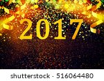 new year decoration .christmas... | Shutterstock . vector #516064480
