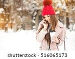 winter girl fun   Shutterstock . vector #516065173
