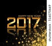 vector happy new year... | Shutterstock .eps vector #516070669