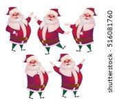 3d realistic santa claus...   Shutterstock .eps vector #516081760