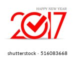 happy new year 2017 symbol with ... | Shutterstock .eps vector #516083668