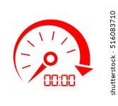 speed indicator icon vector... | Shutterstock .eps vector #516083710
