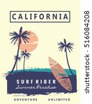 california  graphic for t shirt ... | Shutterstock .eps vector #516084208