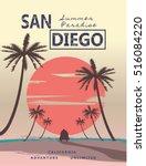 california  graphic for t shirt ... | Shutterstock .eps vector #516084220