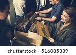 vinyl record store music... | Shutterstock . vector #516085339
