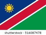 official vector flag of namibia ... | Shutterstock .eps vector #516087478