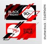 black friday sale. banner | Shutterstock .eps vector #516090694