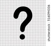 question mark    black vector... | Shutterstock .eps vector #516094336