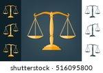 icon scale flat  balance symbol ... | Shutterstock .eps vector #516095800